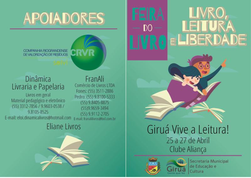 Feira do Livro acontece esse final de semana em Giruá